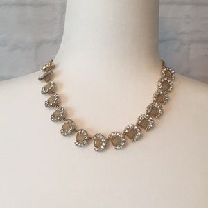 Banana Republic gold tone crystals stone necklace